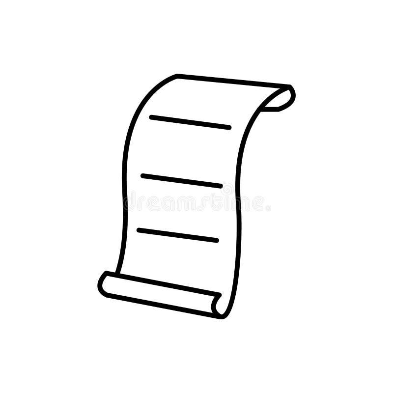 Έγγραφο, επιστολή Διανυσματικό εικονίδιο απεικόνισης διανυσματική απεικόνιση