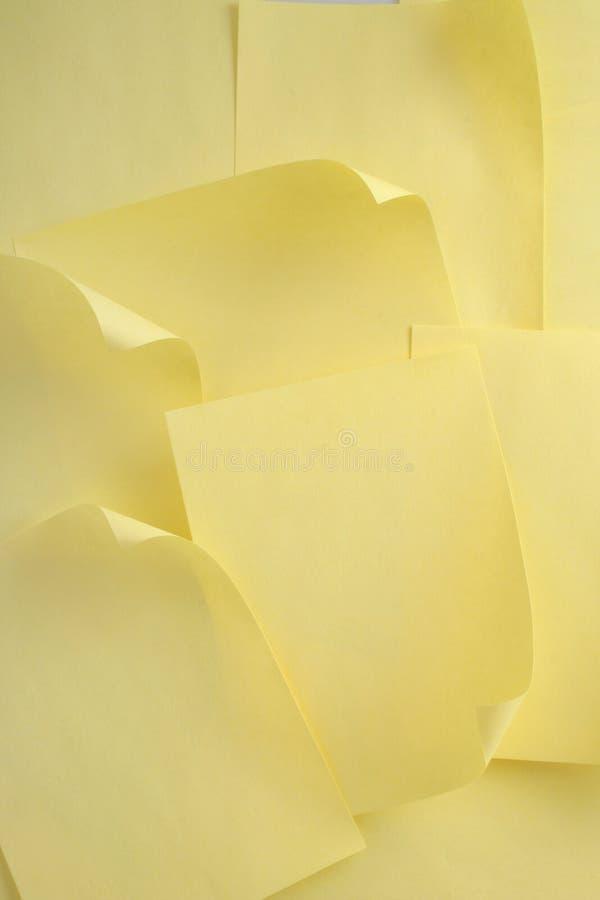 έγγραφο κίτρινο στοκ φωτογραφία με δικαίωμα ελεύθερης χρήσης