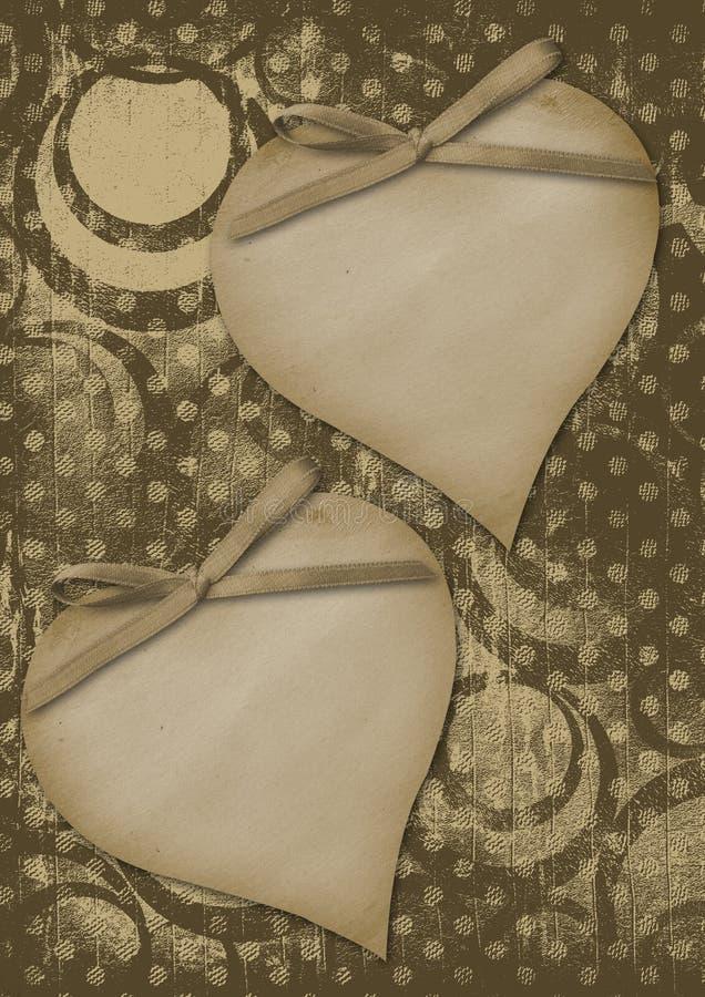 έγγραφο καρδιών πλαισίου grunge διανυσματική απεικόνιση