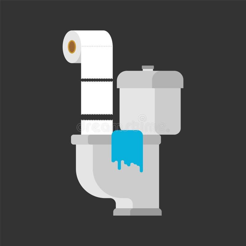 Έγγραφο κατά συνέπειες τουαλετών Απορρίματα στον υδροσωλήνα παλαιοί σωλήνες W ελεύθερη απεικόνιση δικαιώματος
