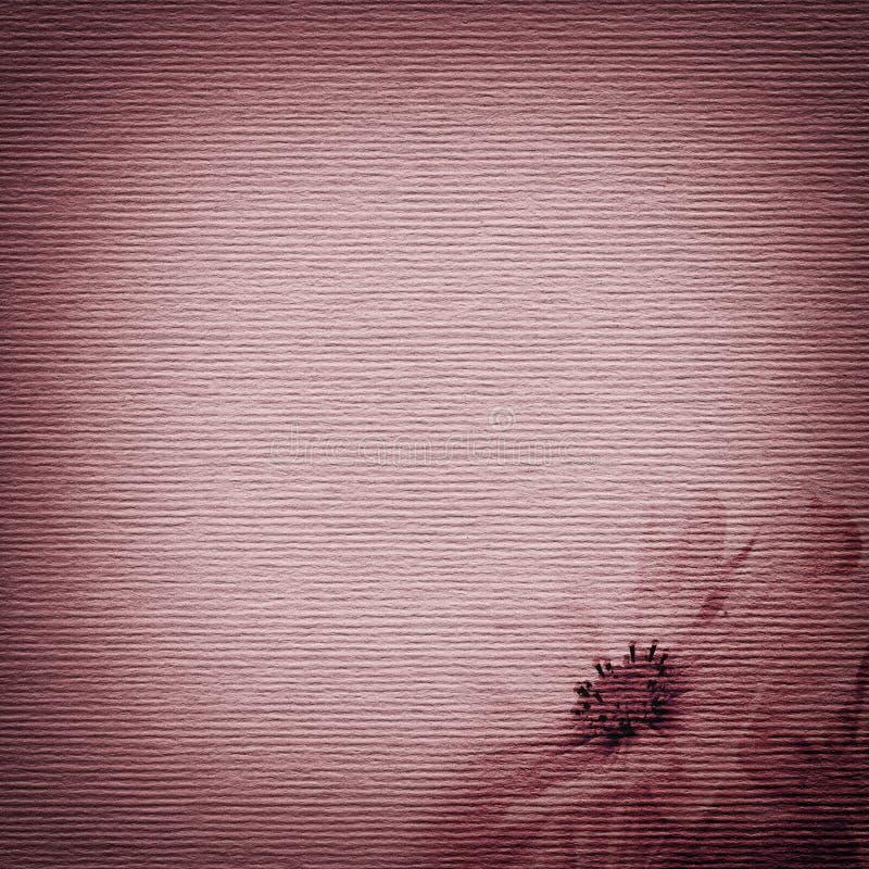 Έγγραφο με μια εικόνα ενός λουλουδιού ελεύθερη απεικόνιση δικαιώματος