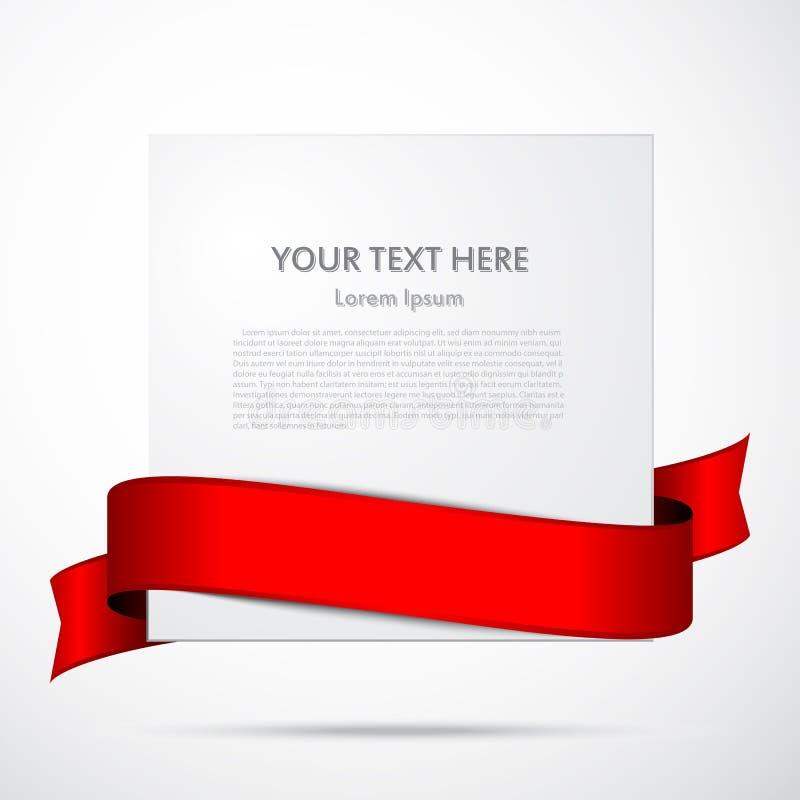 Έγγραφο με την κόκκινη κορδέλλα ελεύθερη απεικόνιση δικαιώματος