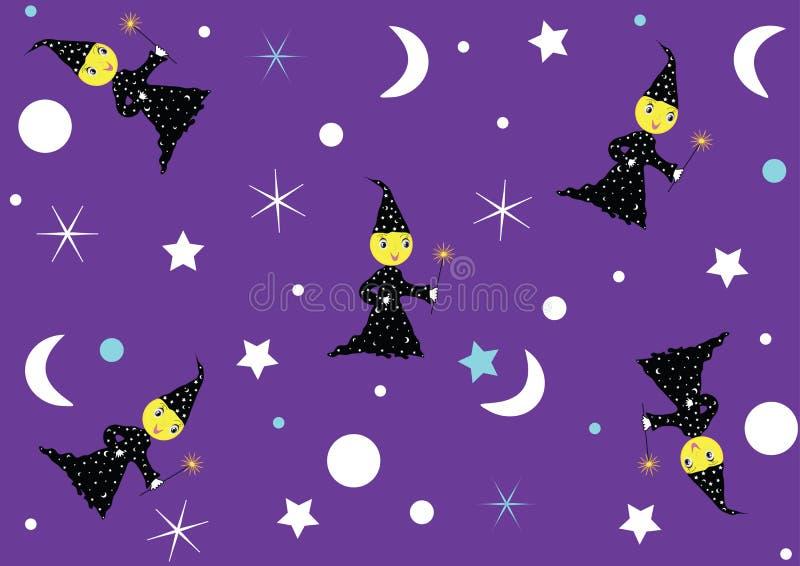 Έγγραφο νύχτας για τα παιδιά διανυσματική απεικόνιση