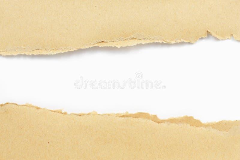 Έγγραφο που σχίζεται καφετί στοκ εικόνα