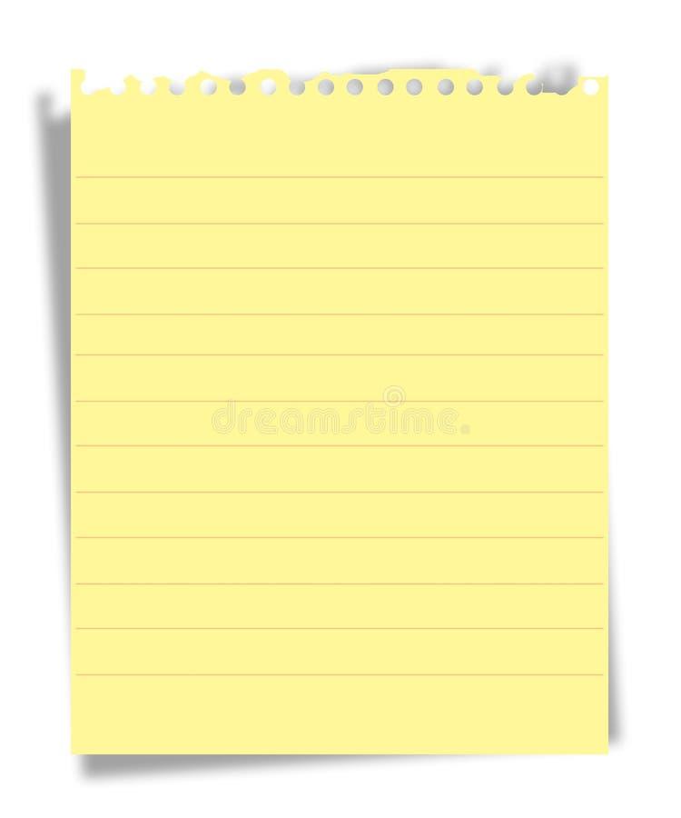 έγγραφο σημειώσεων διανυσματική απεικόνιση