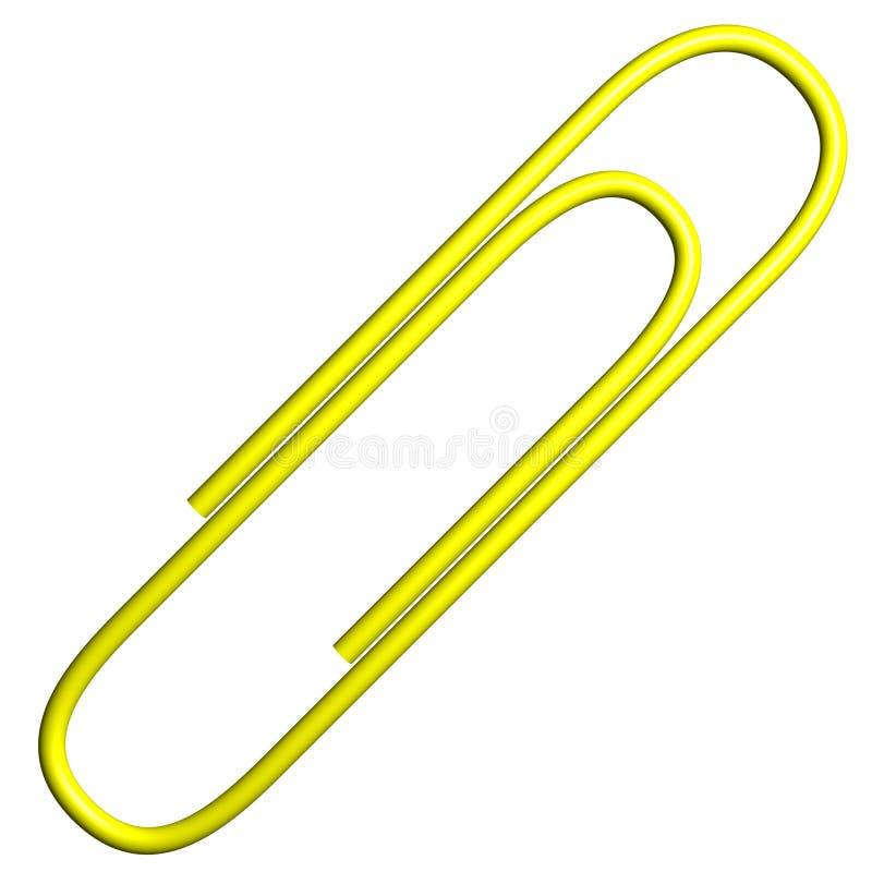 έγγραφο συνδετήρων paperclip κίτρινο απεικόνιση αποθεμάτων