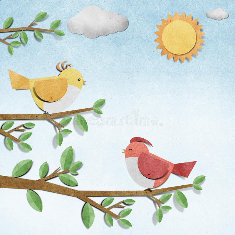 έγγραφο τεχνών πουλιών πο&ups στοκ φωτογραφία με δικαίωμα ελεύθερης χρήσης