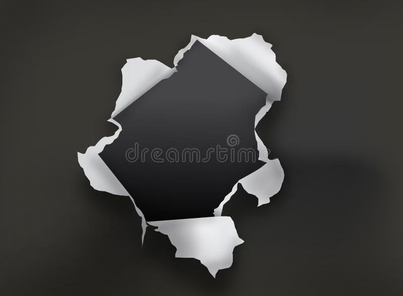 έγγραφο τρυπών απεικόνιση αποθεμάτων