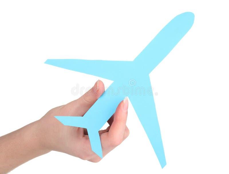 έγγραφο χεριών αεροπλάνων στοκ φωτογραφία με δικαίωμα ελεύθερης χρήσης