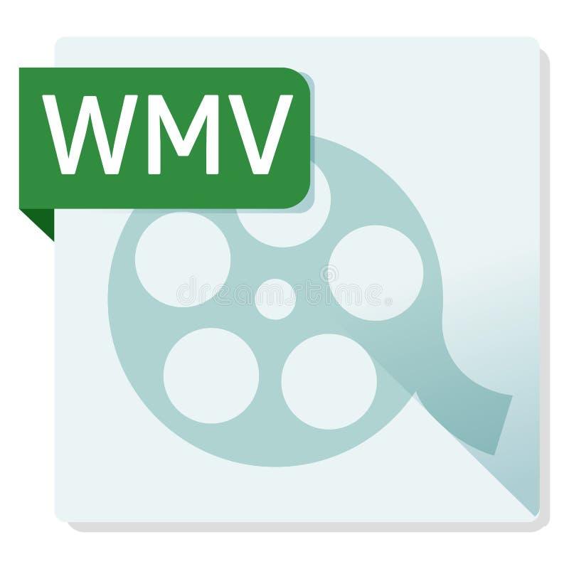 Έγγραφο WMV Τετραγωνικό εικονίδιο μορφής αρχείου απεικόνιση αποθεμάτων