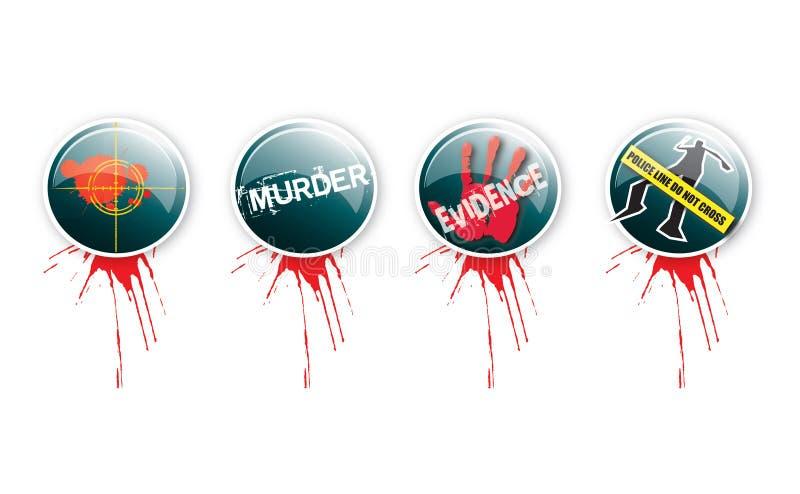 έγκλημα 3 κουμπιών απεικόνιση αποθεμάτων