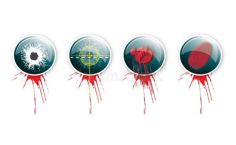 έγκλημα 4 κουμπιών διανυσματική απεικόνιση