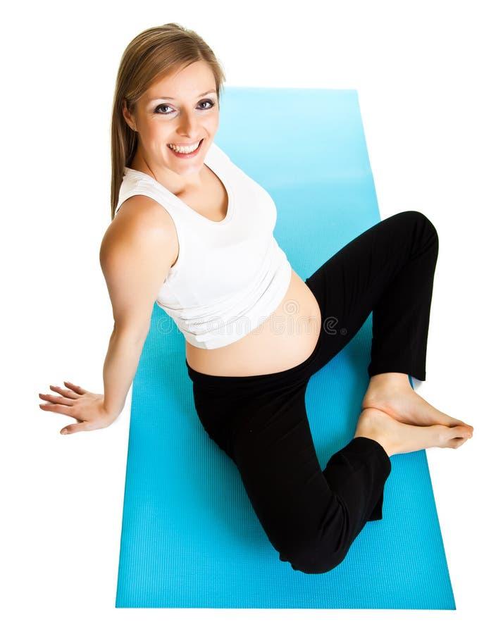 έγκυος γυναίκα ικανότητ&alph στοκ εικόνα με δικαίωμα ελεύθερης χρήσης