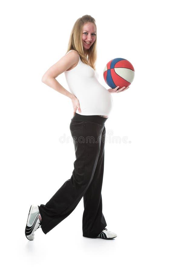 έγκυος γυναίκα σφαιρών στοκ φωτογραφία με δικαίωμα ελεύθερης χρήσης