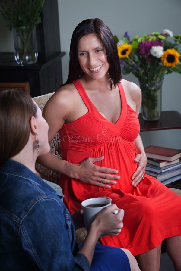 έγκυος γυναίκα φίλων στοκ φωτογραφία με δικαίωμα ελεύθερης χρήσης