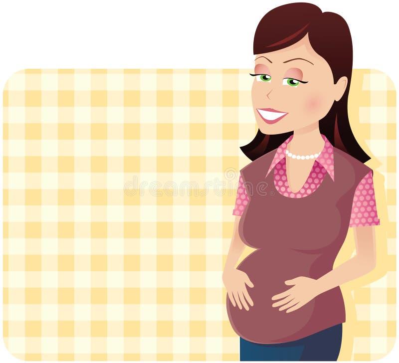 έγκυος γυναίκα διανυσματική απεικόνιση