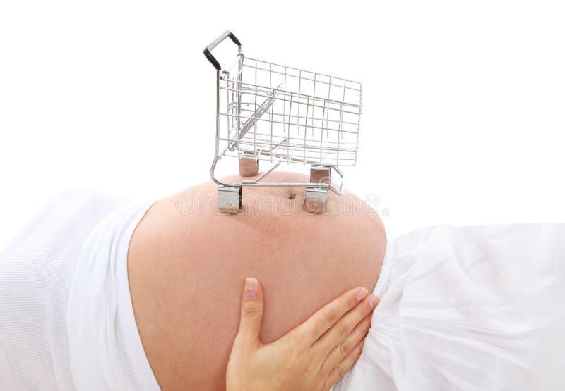 έγκυος ψωνίζοντας γυναί&ka στοκ εικόνα με δικαίωμα ελεύθερης χρήσης