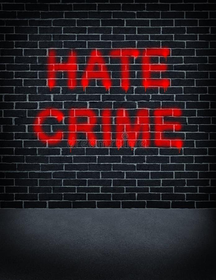 Έγκλημα μίσους διανυσματική απεικόνιση