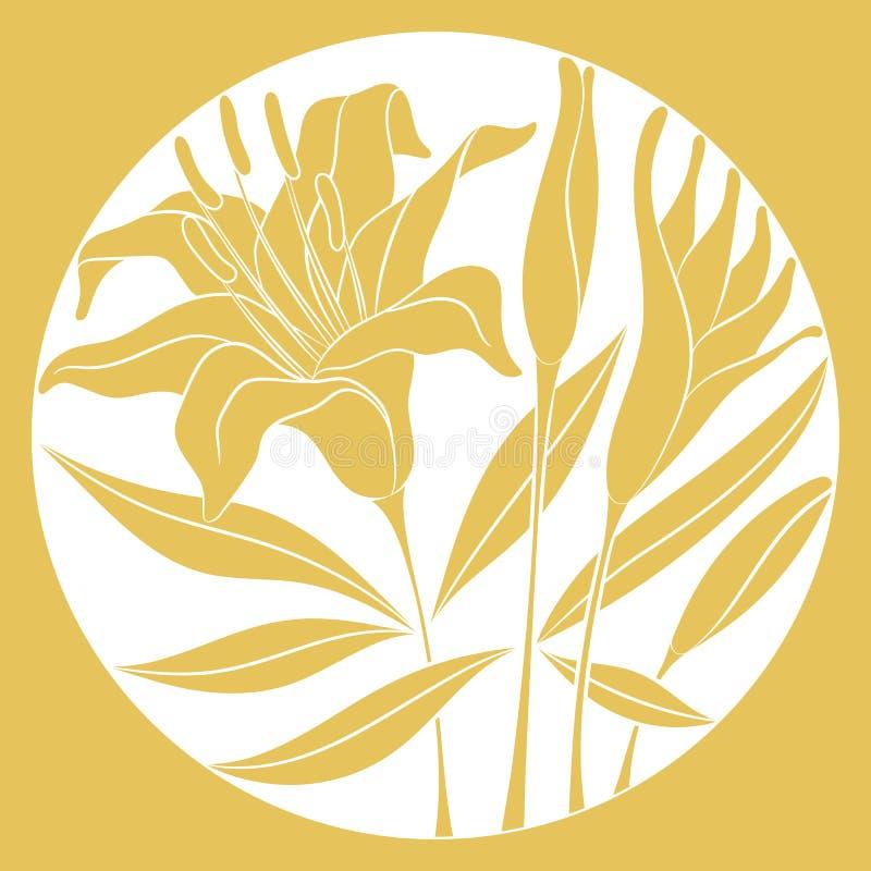 Έδαφος-αντίστροφα λουλούδια κρίνων στοκ εικόνα με δικαίωμα ελεύθερης χρήσης