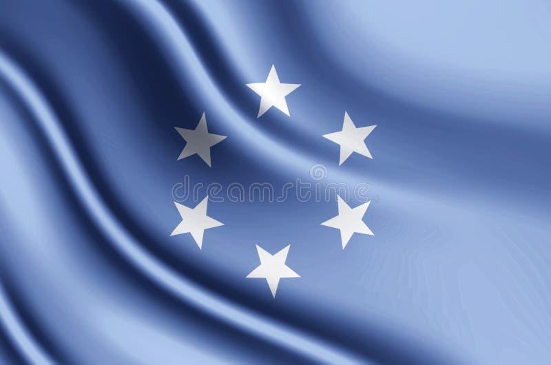 Έδαφος εμπιστοσύνης της ρεαλιστικής απεικόνισης σημαιών νησιών του Ειρηνικού ελεύθερη απεικόνιση δικαιώματος