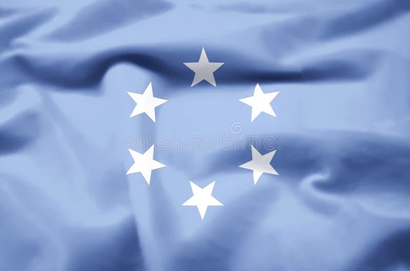 Έδαφος εμπιστοσύνης της ρεαλιστικής απεικόνισης σημαιών νησιών του Ειρηνικού απεικόνιση αποθεμάτων