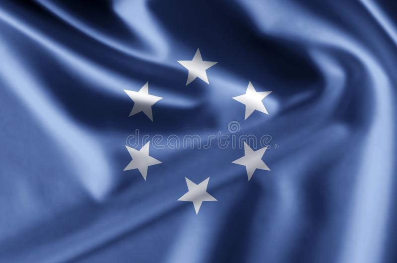 Έδαφος εμπιστοσύνης της ρεαλιστικής απεικόνισης σημαιών νησιών του Ειρηνικού διανυσματική απεικόνιση