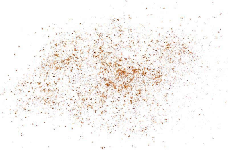 Έδαφος καρυκευμάτων κορίανδρου σωρών σε ένα άσπρο υπόβαθρο στοκ φωτογραφία με δικαίωμα ελεύθερης χρήσης