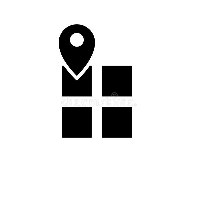 Έδαφος στο εικονίδιο χαρτών σε ένα άσπρο υπόβαθρο διανυσματική απεικόνιση