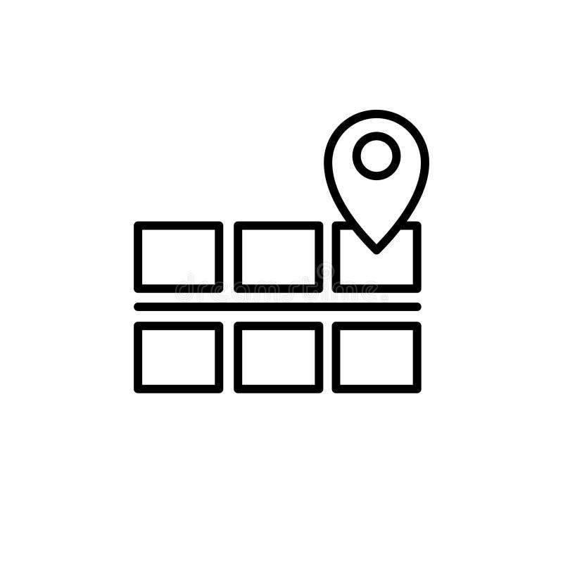 Έδαφος στο εικονίδιο χαρτών σε ένα άσπρο υπόβαθρο ελεύθερη απεικόνιση δικαιώματος