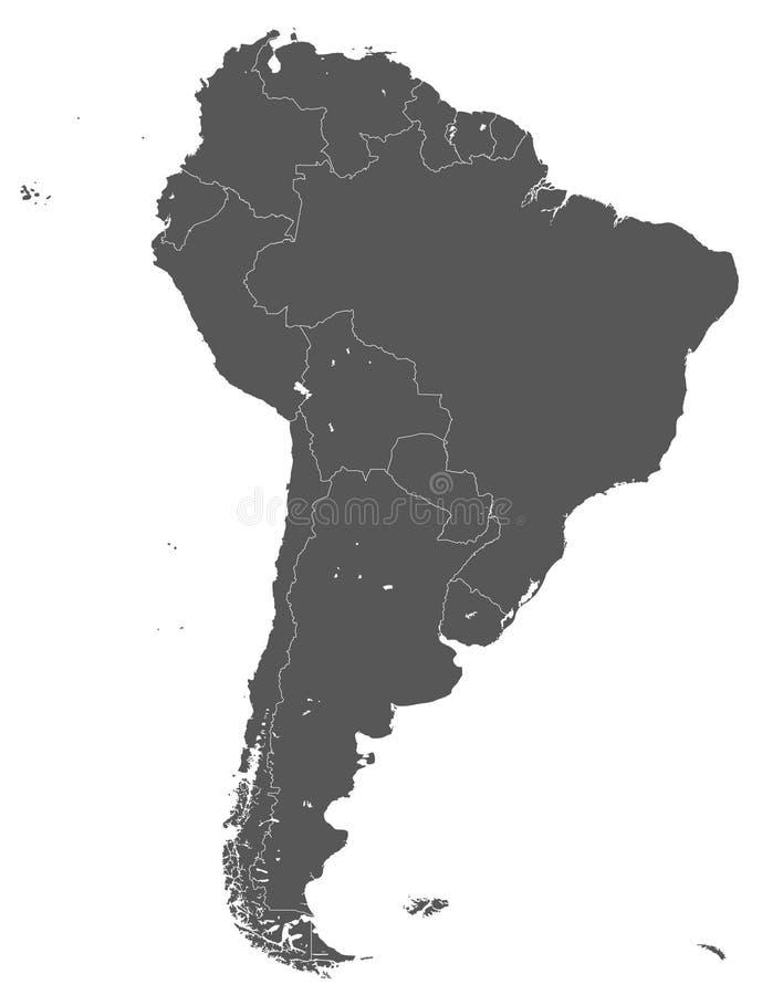 Έδαφος της ηπείρου της Νότιας Αμερικής Άσπρη ανασκόπηση ελεύθερη απεικόνιση δικαιώματος