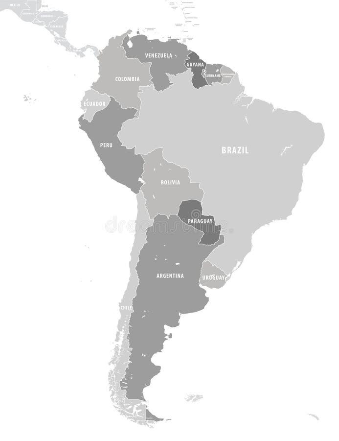 Έδαφος της ηπείρου της Νότιας Αμερικής Άσπρη ανασκόπηση απεικόνιση αποθεμάτων