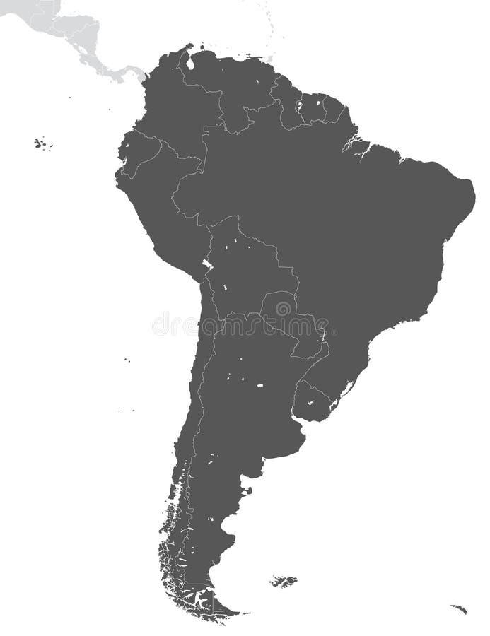 Έδαφος της ηπείρου της Νότιας Αμερικής απεικόνιση αποθεμάτων