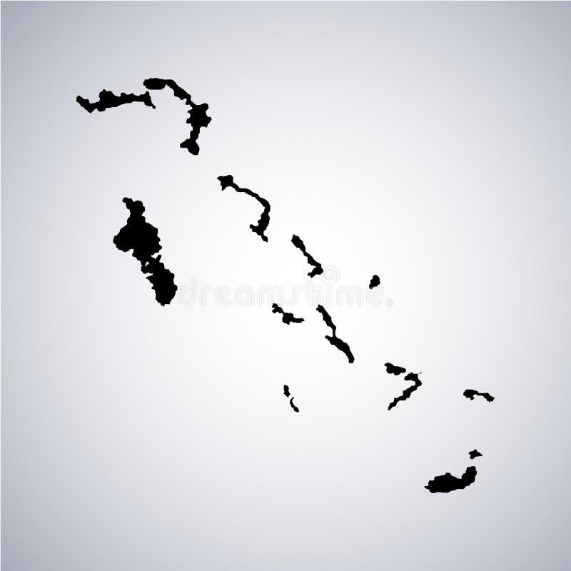 Έδαφος των νησιών Bahama επίσης corel σύρετε το διάνυσμα απεικόνισης διανυσματική απεικόνιση