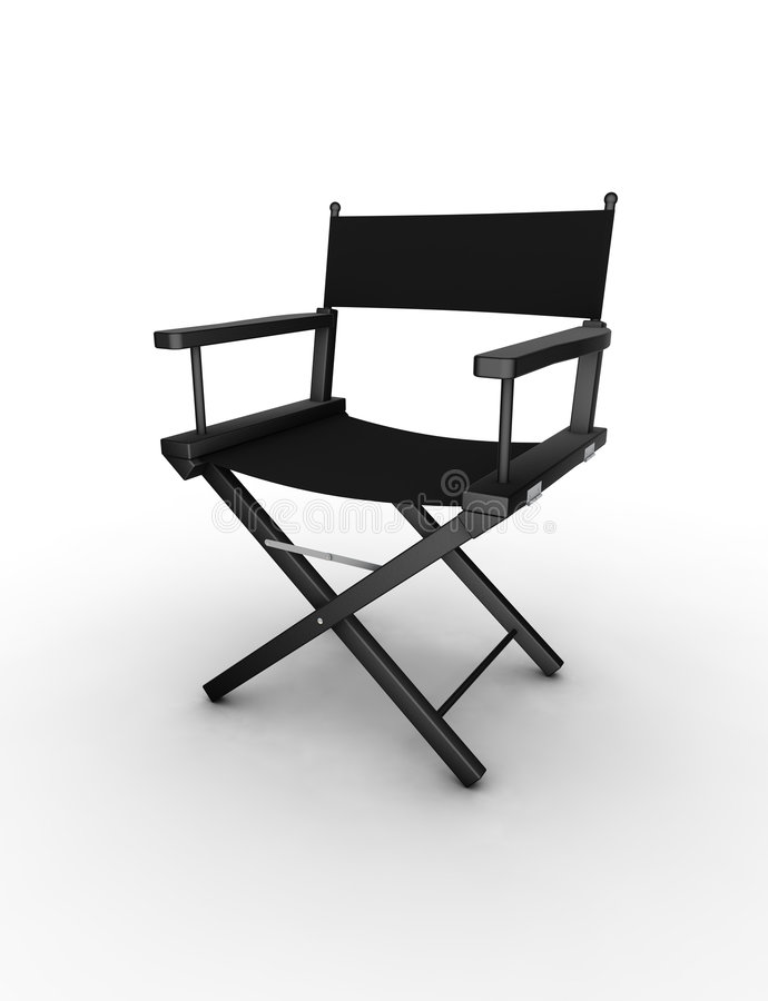 έδρα σκηνοθέτης s διανυσματική απεικόνιση