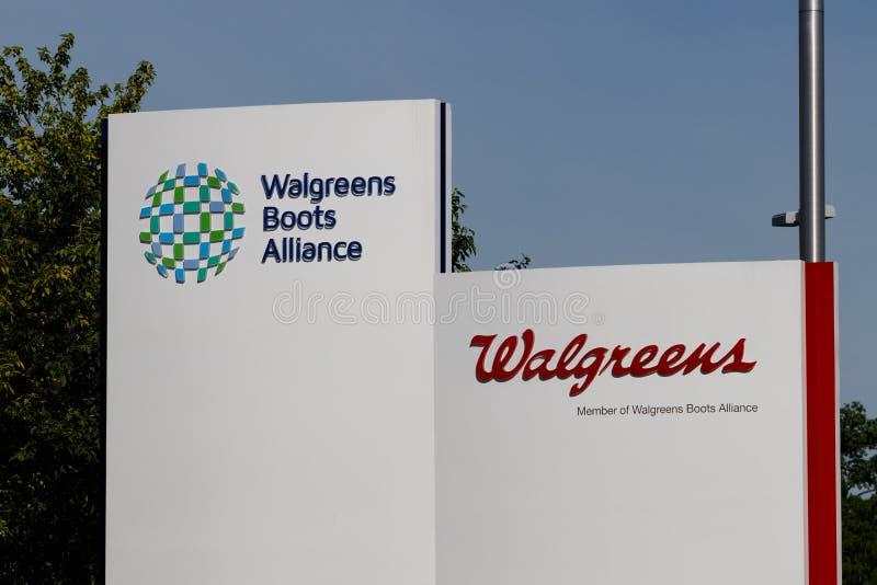 Έδρα συμμαχίας μποτών Walgreens Συγκεντρωμένα WBA φαρμακευτικά είδη ΧΙ μποτών Walgreens και συμμαχίας στοκ φωτογραφία με δικαίωμα ελεύθερης χρήσης
