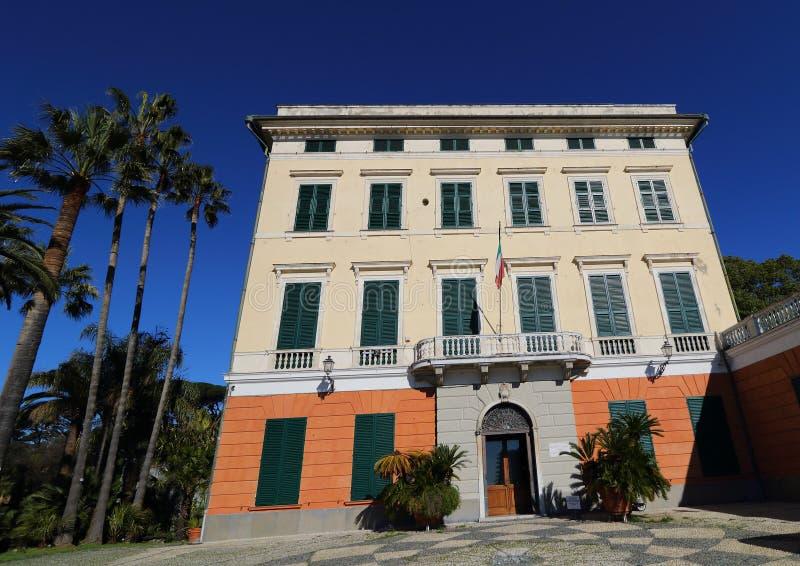 Έδρα Palazzo του μουσείου της από τη Λιγουρία αρχαιολογίας στοκ εικόνα