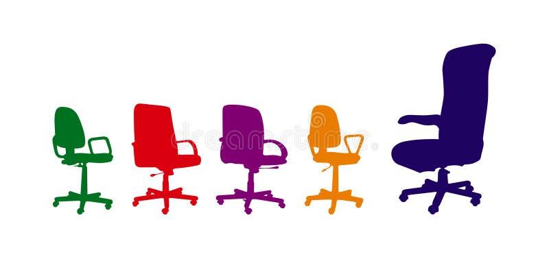 έδρες βραχιόνων διανυσματική απεικόνιση