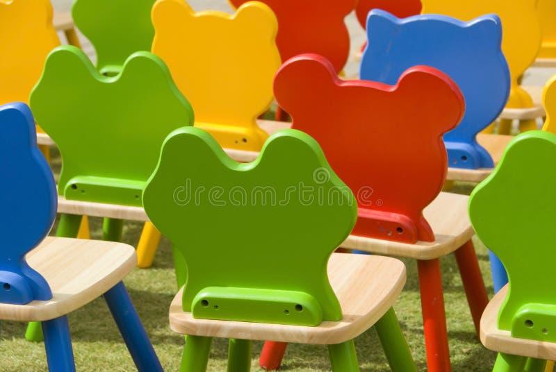 έδρες ζωηρόχρωμες στοκ εικόνες