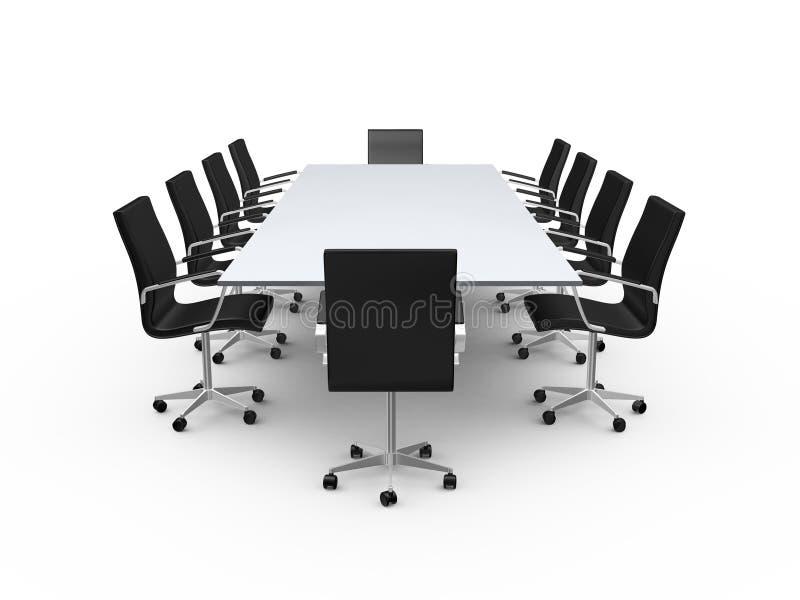 Έδρες πινάκων και γραφείων διασκέψεων απεικόνιση αποθεμάτων