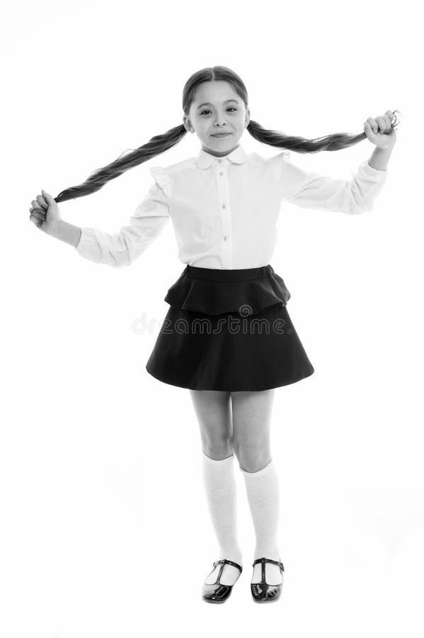 Έκανε από δικοί μου Ο πιό δροσερός πίσω στο σχολείο hairstyles Πανέμορφες ουρές τέλειες για κάθε μέρα της εβδομάδας Ευτυχές χαμόγ στοκ φωτογραφίες