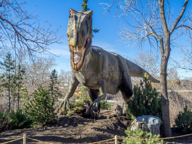 Έκθεμα δεινοσαύρων ηλεκτρονικό εφέ στοκ φωτογραφία με δικαίωμα ελεύθερης χρήσης