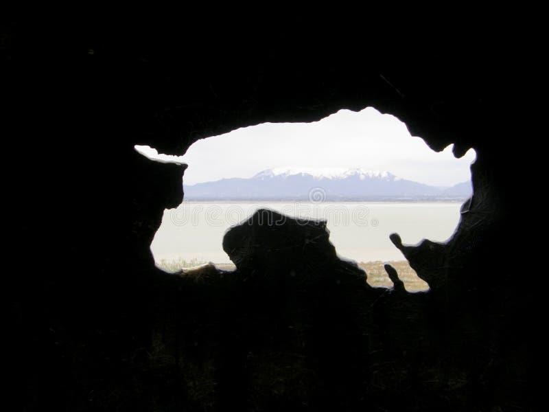 Έκθεμα στο πάρκο κράτους νησιών αντιλοπών, Σωλτ Λέικ Σίτυ, Γιούτα στοκ εικόνες