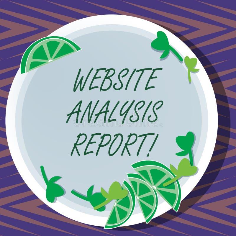 Έκθεση ανάλυσης ιστοχώρου κειμένων γραψίματος λέξης Επιχειρησιακή έννοια για τη διαδικασία τη συμπεριφορά των επισκεπτών ιστοχώρο ελεύθερη απεικόνιση δικαιώματος