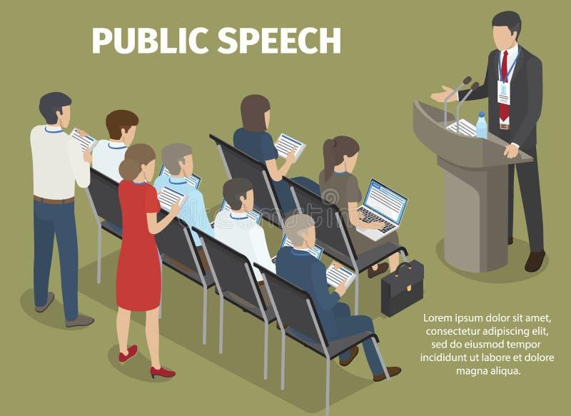 Έκθεση αρχείων ανθρώπων του διευθυντή σχετικά με τη δημόσια ομιλία ελεύθερη απεικόνιση δικαιώματος