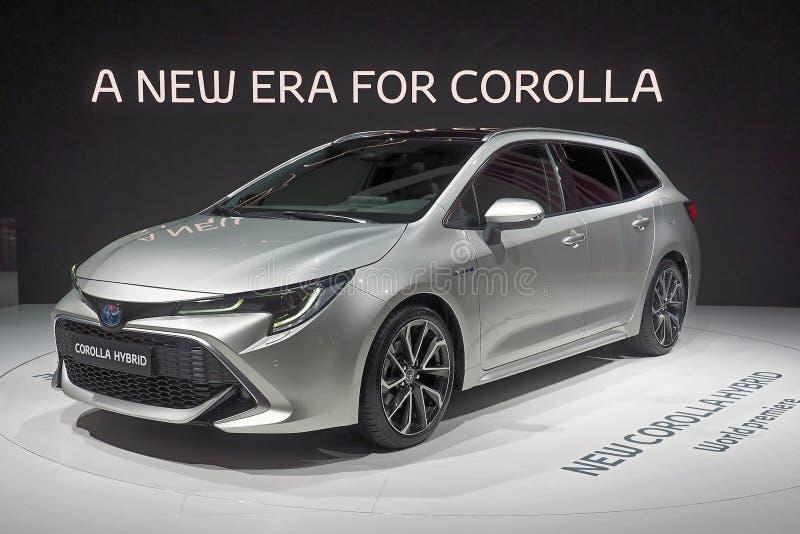Έκθεση αυτοκινήτου 2018 του Παρισιού - υβρίδιο της Toyota Corolla στοκ φωτογραφία με δικαίωμα ελεύθερης χρήσης