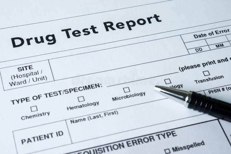 Έκθεση δοκιμής φαρμάκων στοκ εικόνες με δικαίωμα ελεύθερης χρήσης