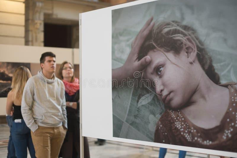 Έκθεση της World Press Photo στη Βουδαπέστη στοκ εικόνα