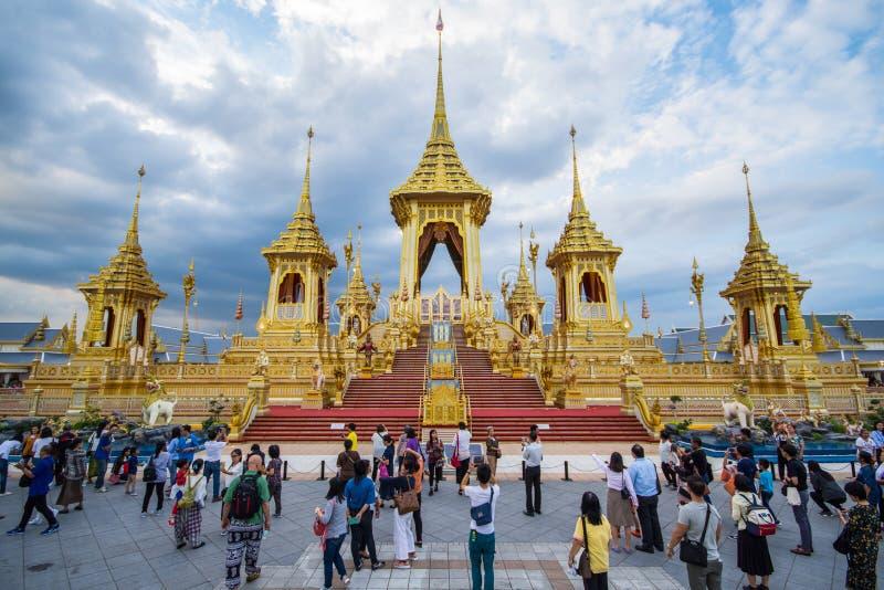 Έκθεση του βασιλιά Rama ΙΧ βασιλικό κρεματόριο στοκ φωτογραφίες