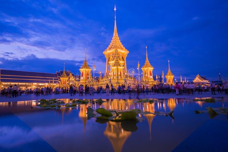 Έκθεση του βασιλιά Rama ΙΧ βασιλικό κρεματόριο στοκ φωτογραφίες με δικαίωμα ελεύθερης χρήσης