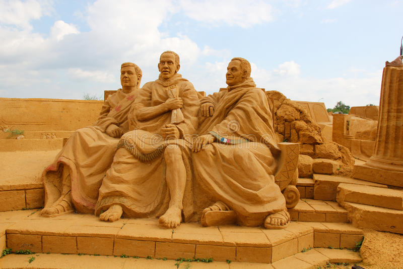 Έκθεση των γλυπτών άμμου ρωμαϊκή Σύγκλητος στοκ φωτογραφία με δικαίωμα ελεύθερης χρήσης